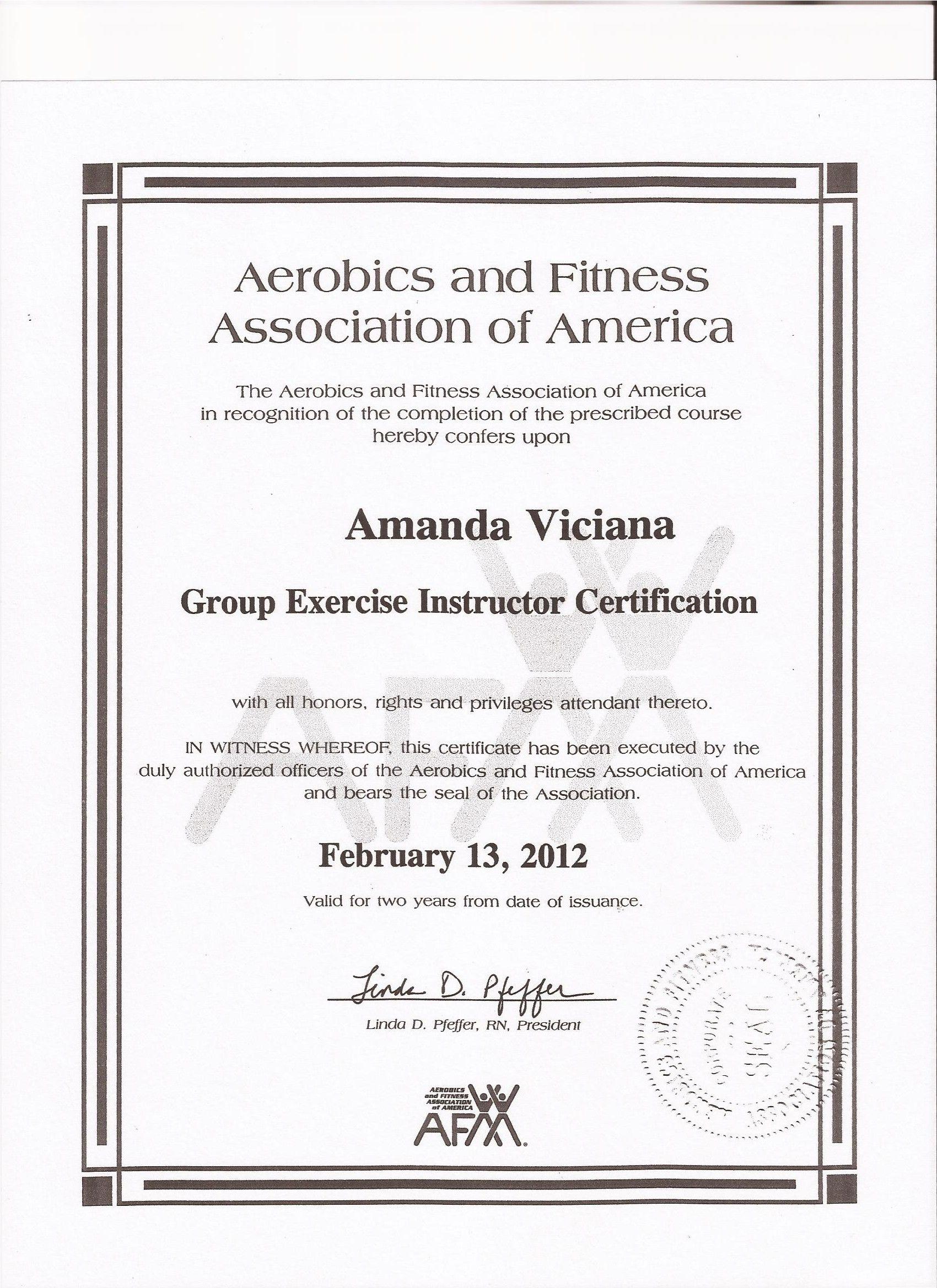 AFAA Group Fitness Certification | Work Hard (Fitness ...