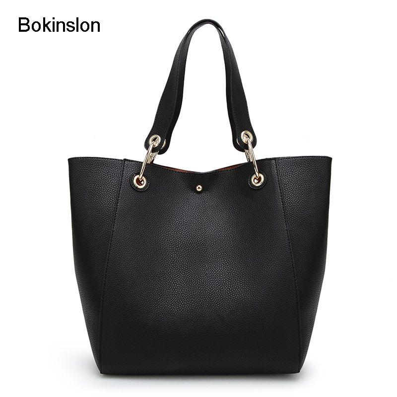 d0846de67694c8 Bokinslon Woman Shoulder Bags Split Leather Retro Ladies Handbags Bags  Elegant Solid Color Luxury Female Fashion Bags