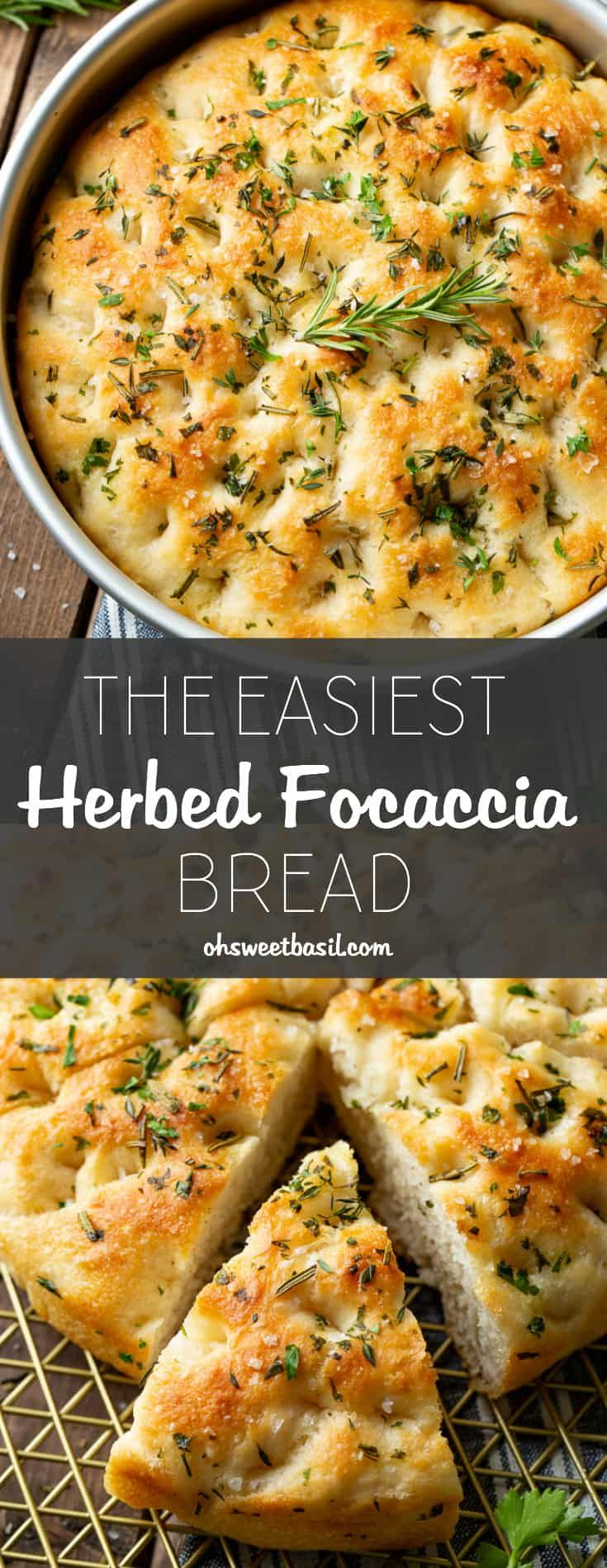 The Easiest Herbed Focaccia Bread