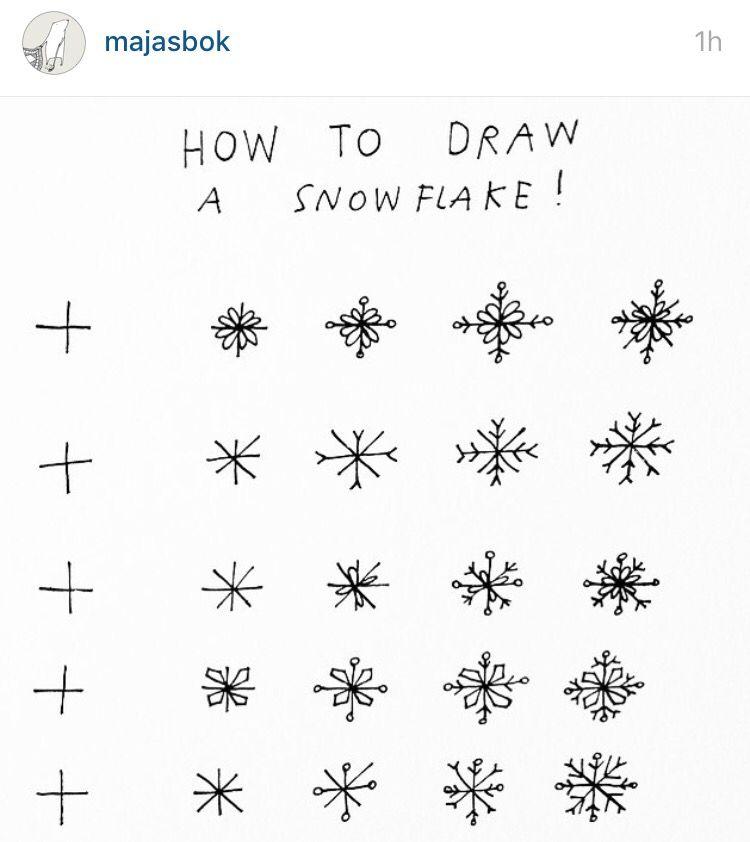 Snowflakes Avec Images Dessin Noel Flocon De Neige Caligraphie