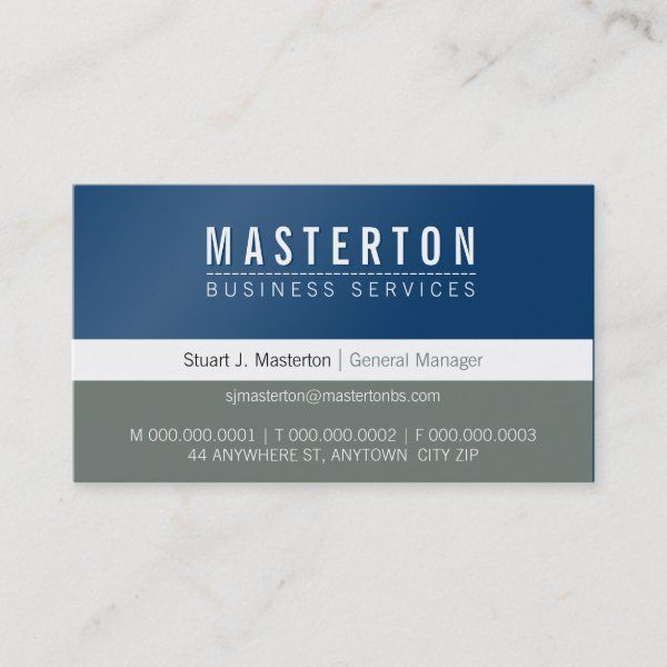 Minimal Plain Simple Corporate Royal Blue Grey Business Card Zazzle Com Plumbers Gift Blue Grey Business Card Size