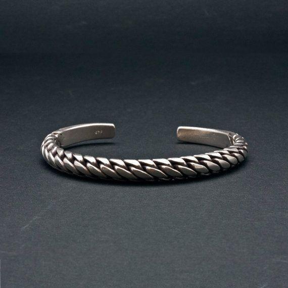 Silver Braided Bracelet Sterling By Sunsanjewelry