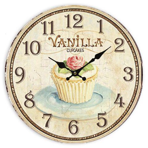 Cupcake Clock Shabby Chic Clock Kitchen Clocks Clock