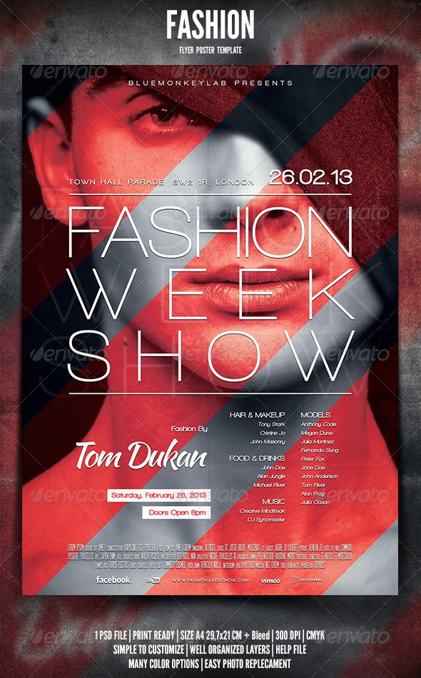 Fashion Flyer Poster  Poster Design Inspiration Fashion Posters
