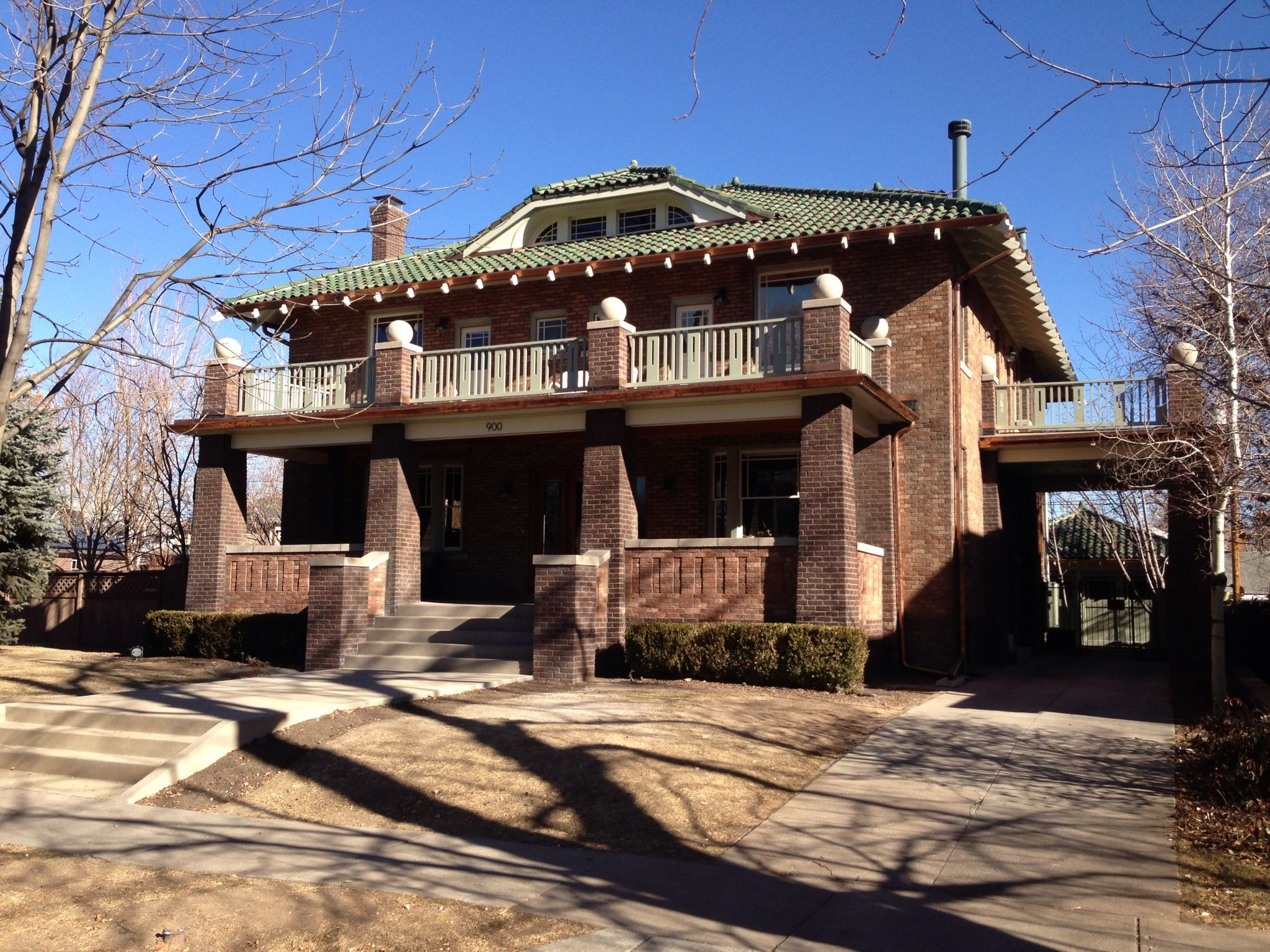 Green Heinz Spanlock Roof With Custom Copper Gutters House Styles Roofing Systems Copper Gutters