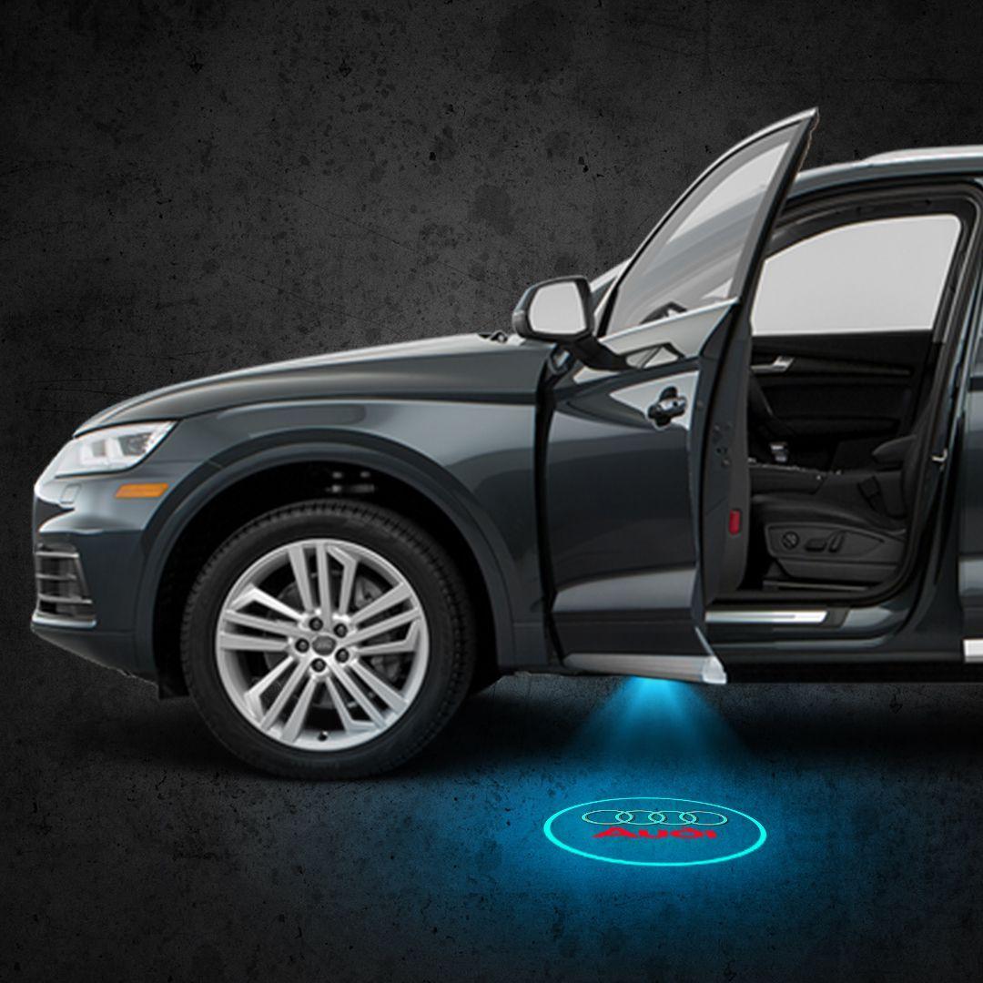 Audi Car Logo Door Lights Welcome Led Laser Projector Car Atmosphere Light Upgrade With Images Led Logo Lighting Logo Lamp Logo