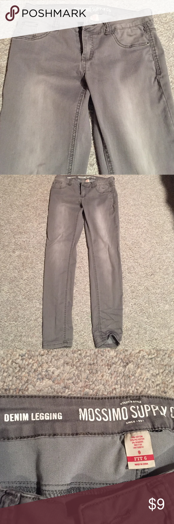 Gray Skinny Pants Light gray skinny jeans from Mossimo Supply Co. Size 9. I wore them a couple times but didn't like them. They are in great shape. Mossimo Supply Co. Pants Skinny