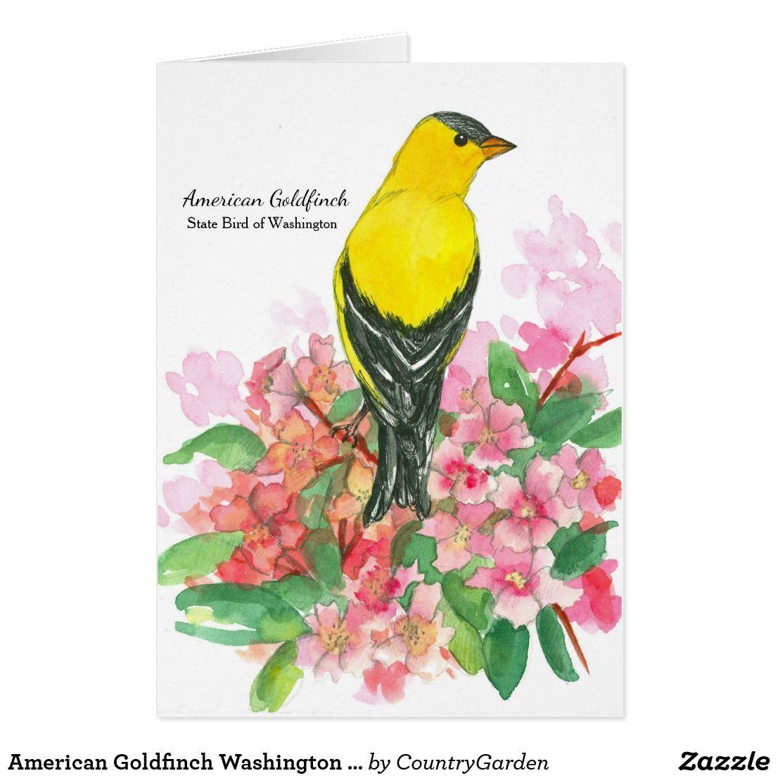 American Goldfinch Washington State Bird Blank