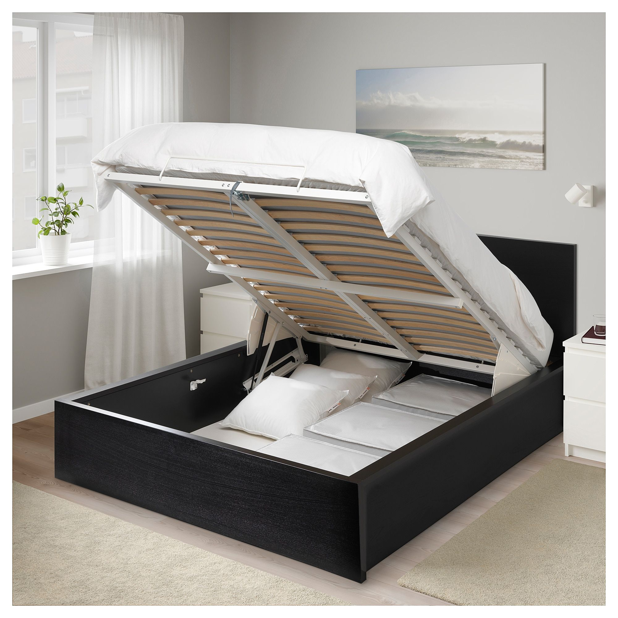 Admirable Storage Bed Black Brown Full Double In 2019 Bed Storage Pdpeps Interior Chair Design Pdpepsorg