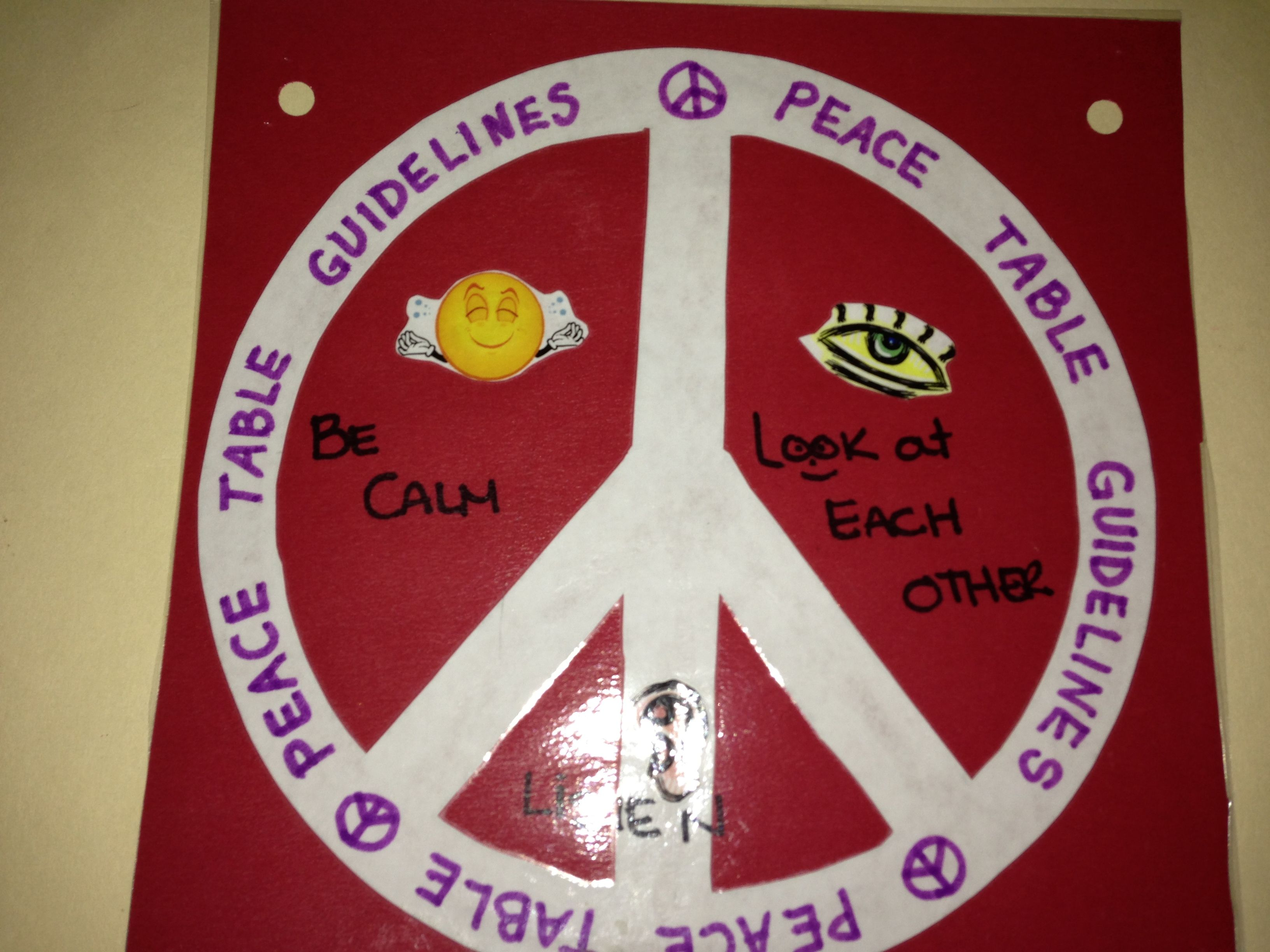 Peace Table Expectations Our Peace Table Was An Area For