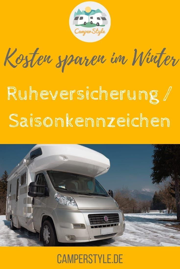 Saisonkennzeichen und Ruheversicherung: Kosten sparen im Winter