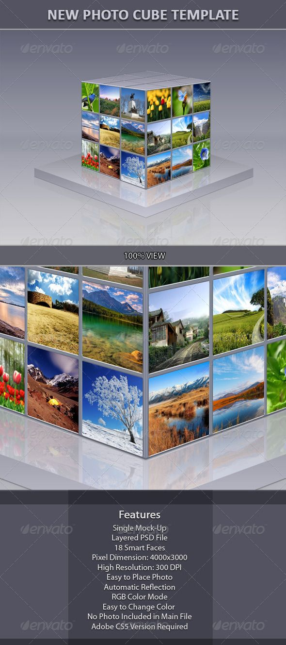 New Photo Cube Template  Cube Template And Font Logo