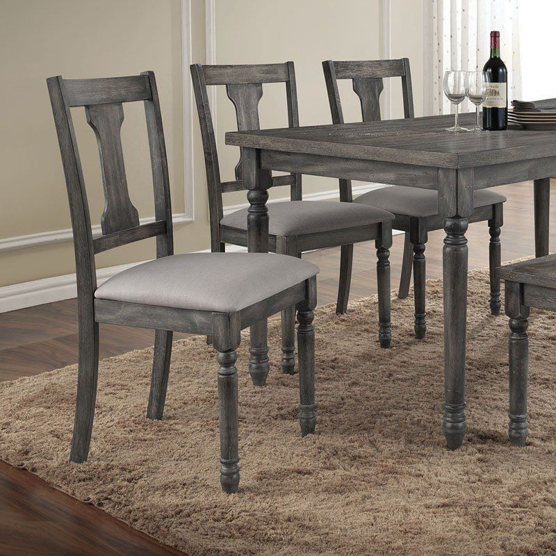 Acme Furniture Wallace Weathered Gray Dining Side Chairs   Set Of 2 | From  Hayneedle.
