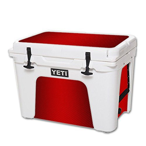 Mightyskins Protective Vinyl Skin Decal For Yeti Tundra 50 Qt Cooler Wrap Cover Sticker Skins Red Carbon Fiber Visit The Imag Yeti Tundra Cool Wraps Cooler