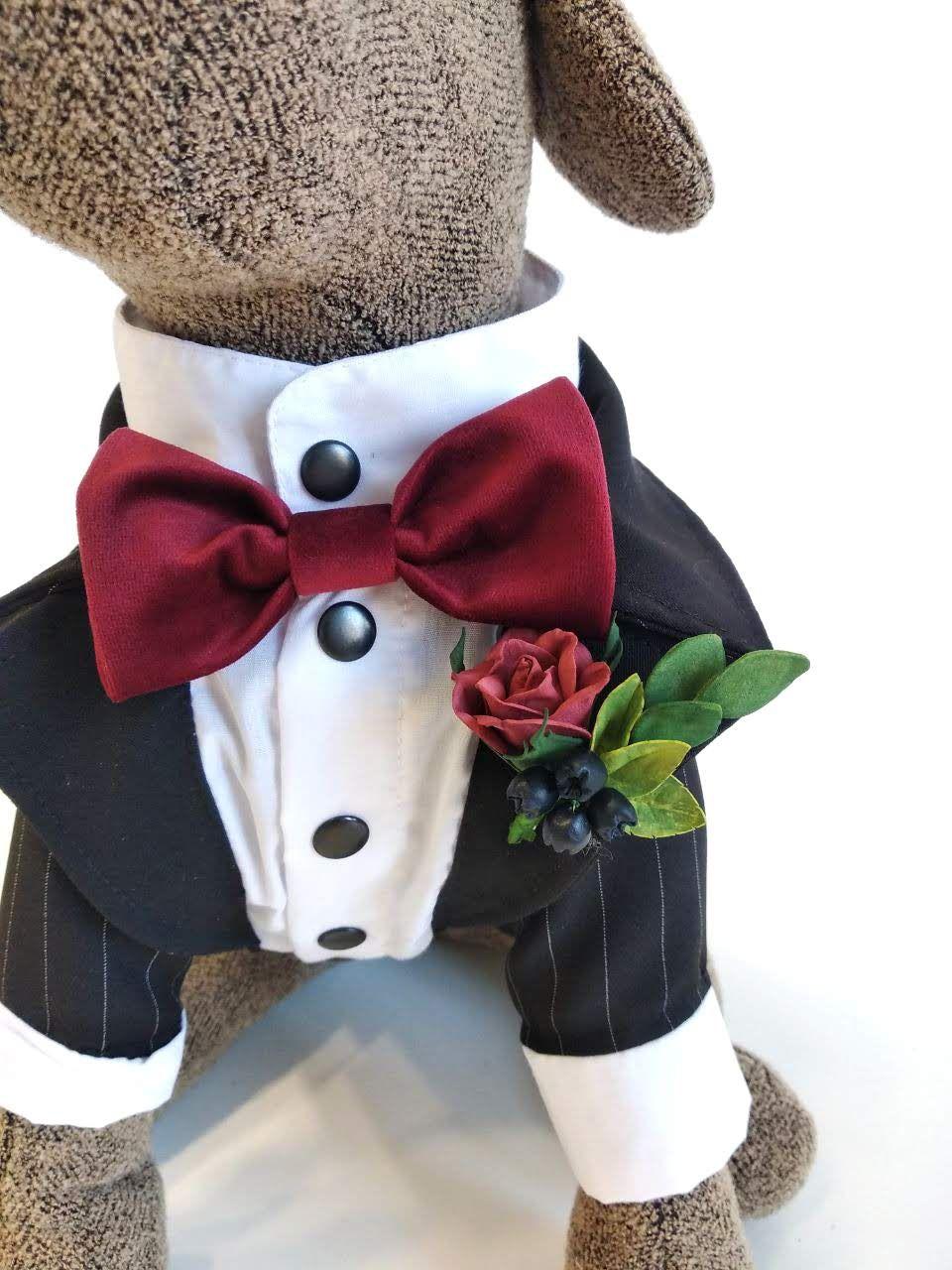 Classic Dog Tuxedo Black Tie Dog Wedding Bow Tie Etsy Dog Tuxedo Dog Wedding Classic Dog