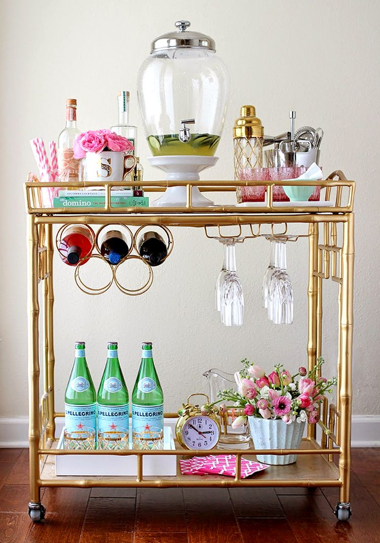 Home Chic Home: Styled Bar Cart & Roundup   Bookcase ideas ...