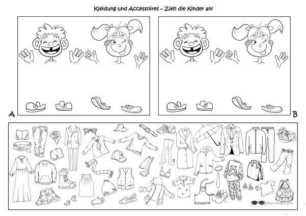 Spiele im Deutschunterricht: Wechselspiel - Kleidung und Accessoires ...