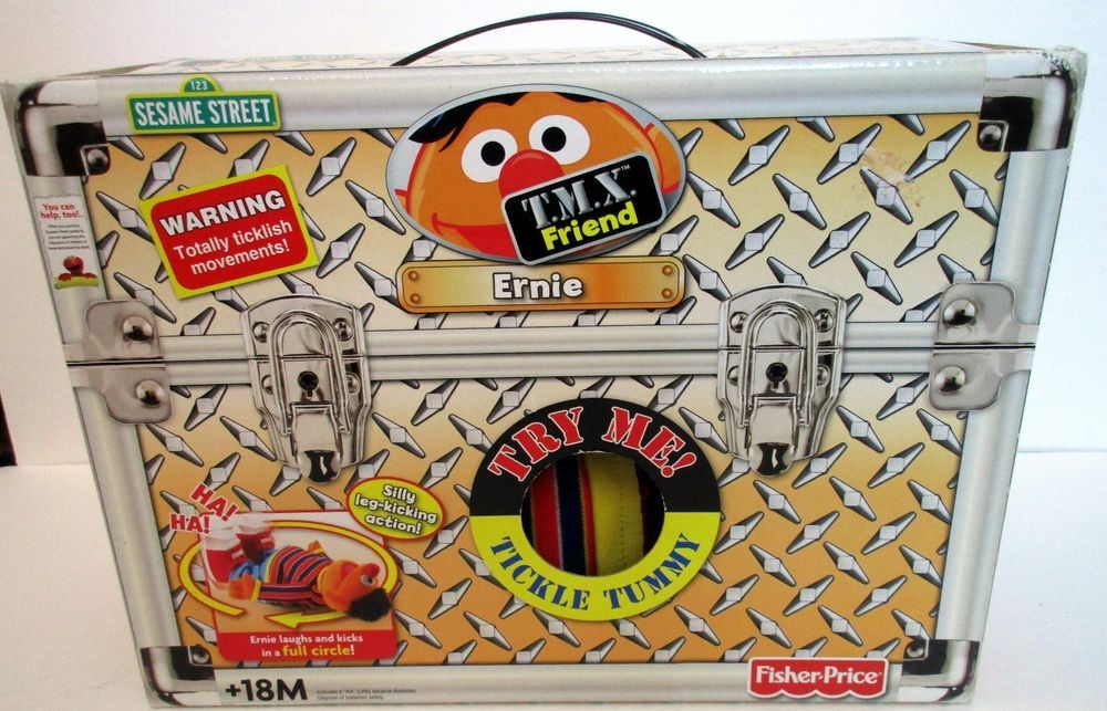 Tmx Friend Ernie Tickle Tummy Leg Kick Action Nib Collectible Gift Christmas Fisherprice Ebay Ziploc Gallon