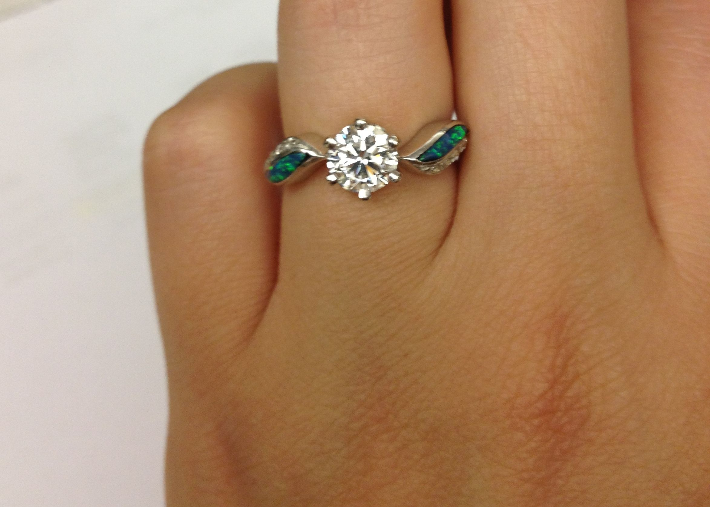 Opal And Diamond Engagement Rings 3  Pictures, Photos, Images