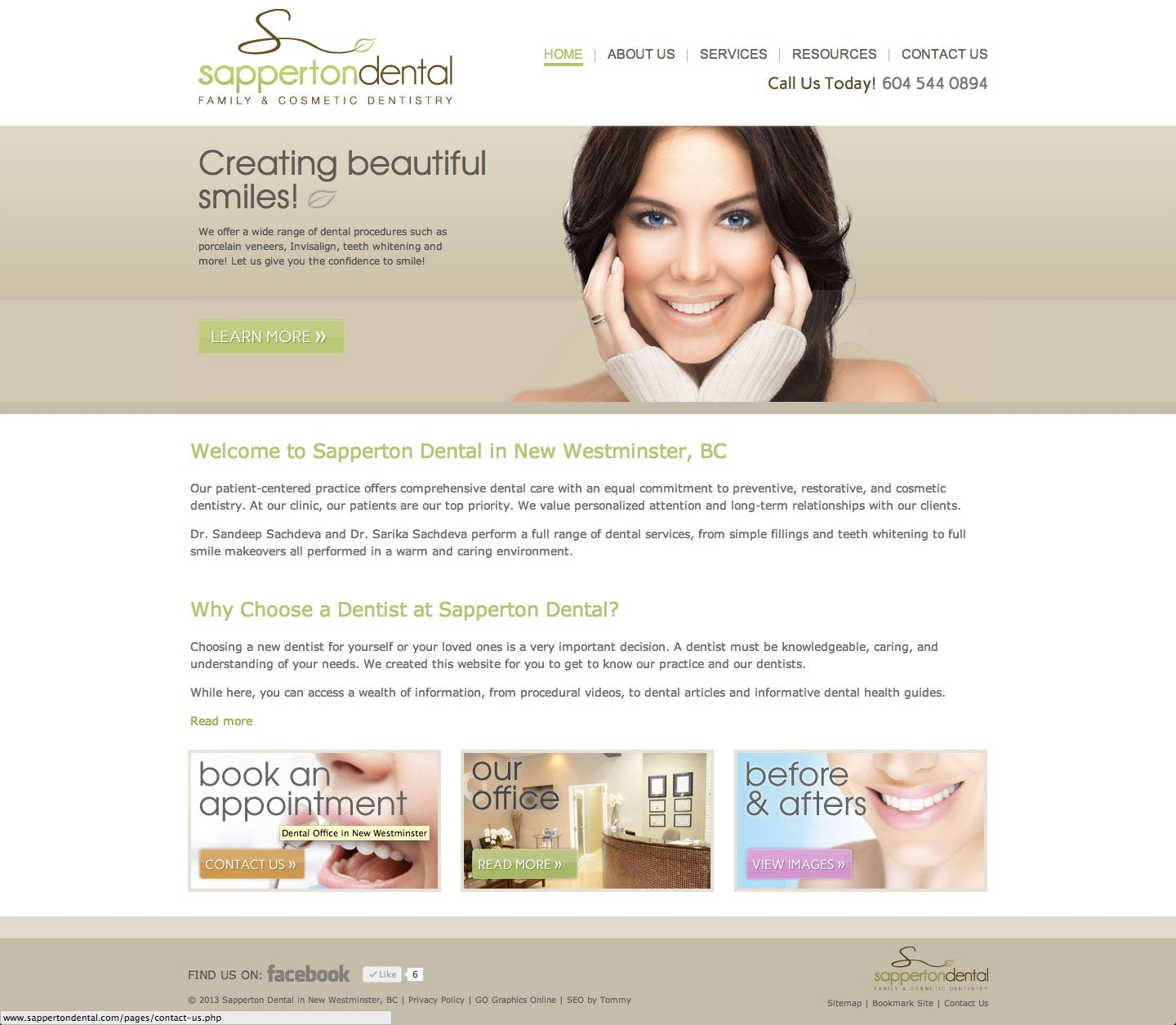 Sapperton Dental Clinic in New Westminster's homepage