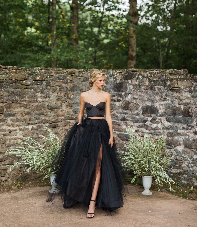 Elizabeth Dye Black Dress Black Tulle Dress Black Wedding Dresses Wedding Dresses For Girls [ 1500 x 1300 Pixel ]
