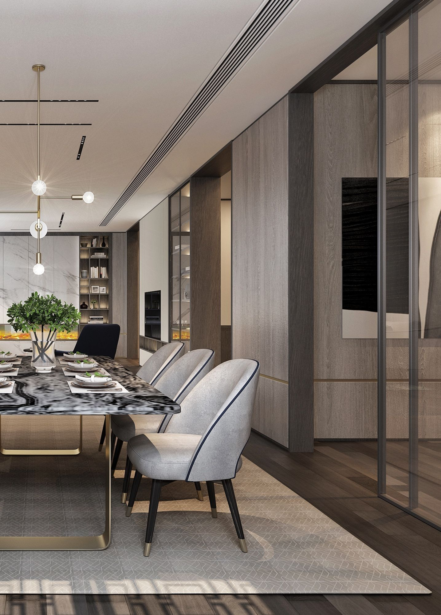 100 Clever And Stylish Living Room Storage Ideas Decormio Part 5 Dining Room Contemporary Luxury Dining Room Modern Dining Room