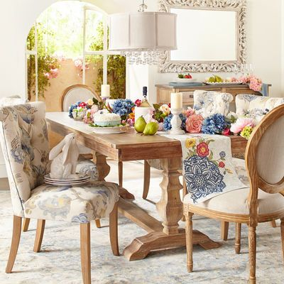 Pier 1 Imports Colette Bloom Dining Chair  Trestle Legs Mesmerizing Pier One Dining Room Furniture Inspiration Design