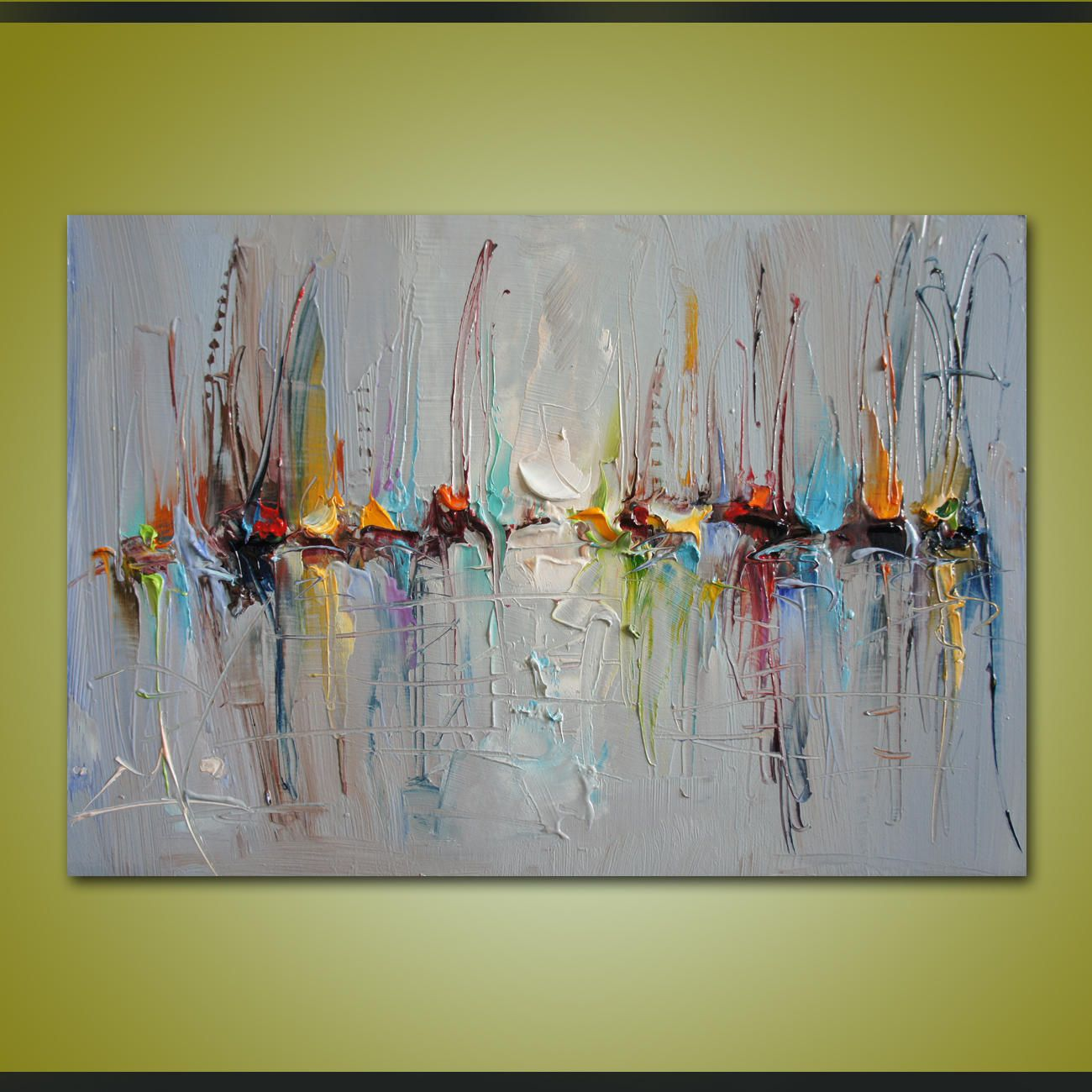 Cuadros Decorativos Contemporaneos Oil Painting Abstract Sailboats Contemporary Wall Art