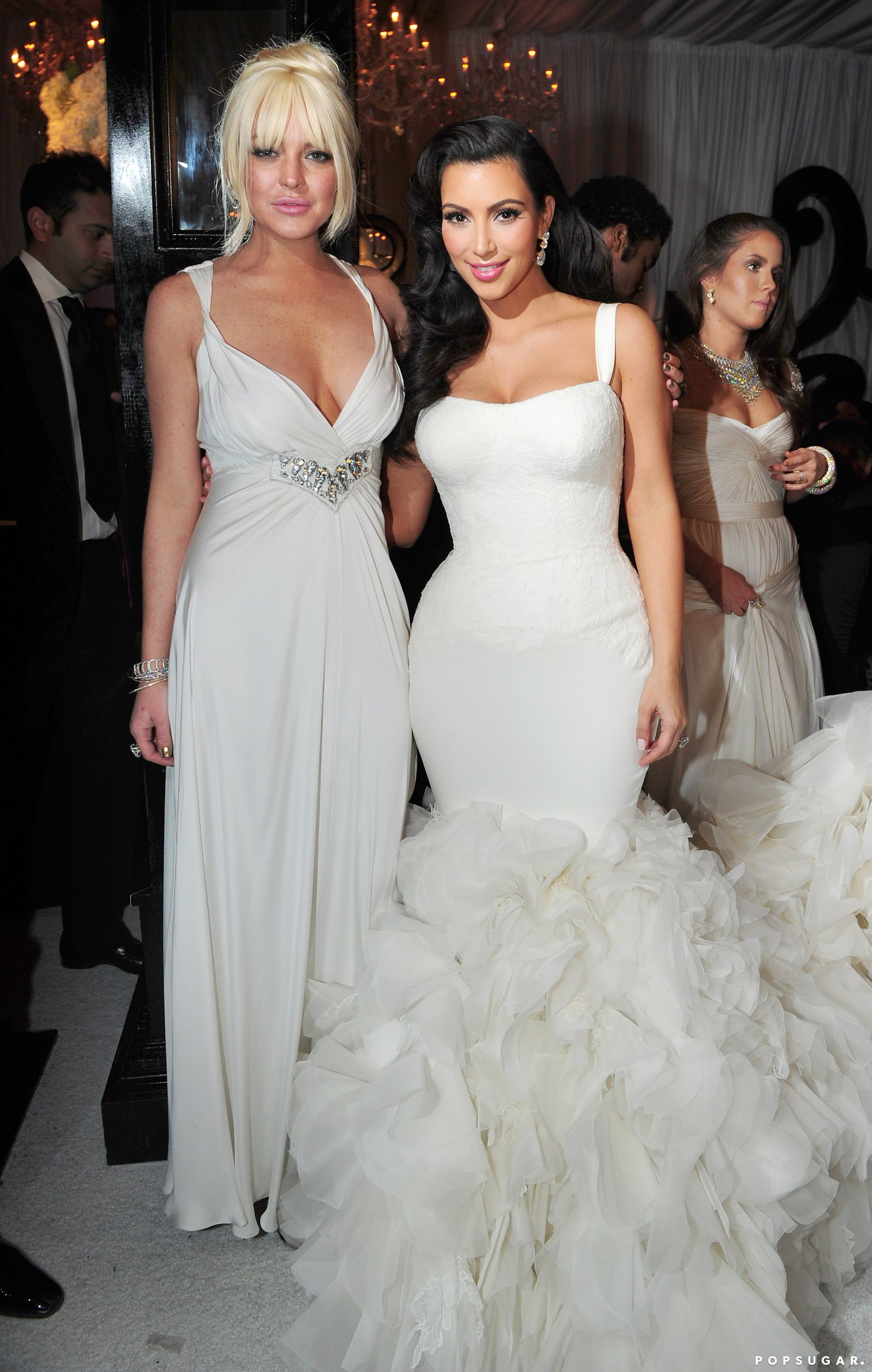 Before Kim Marries Kanye Take A Look Back At That Other Wedding She Had Kim Kardashian Wedding Dress Kim Kardashian Wedding Kardashian Wedding [ 3222 x 2048 Pixel ]