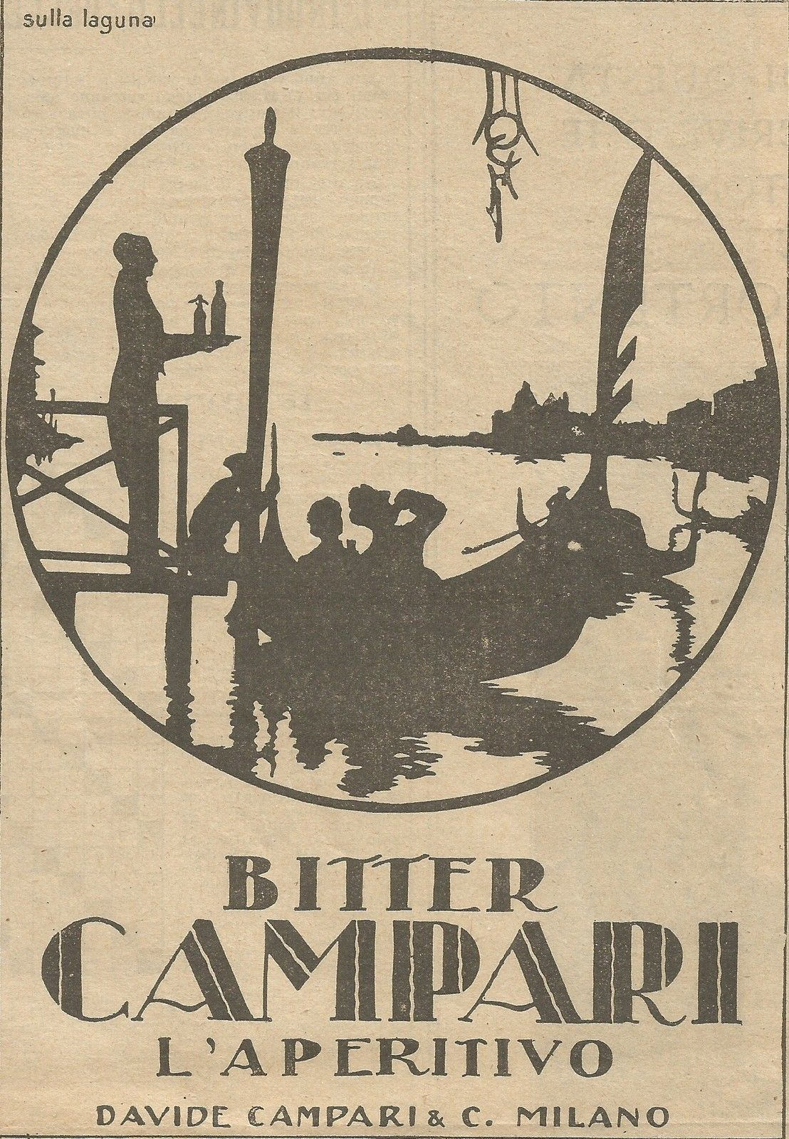 poster Aperitivo-Balzola Wall art. Reproduction Vintage drink advert