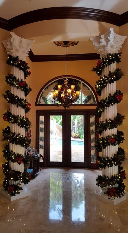 Led Garland Column Decor By Christmas Decor Christmas