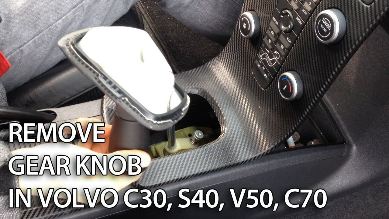 How to remove gear knob in #Volvo C30, S40, V50, C70
