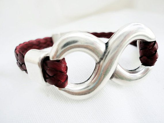 Bordeaux braided leather bracelet for men for by mitallerdenubes, €18.00