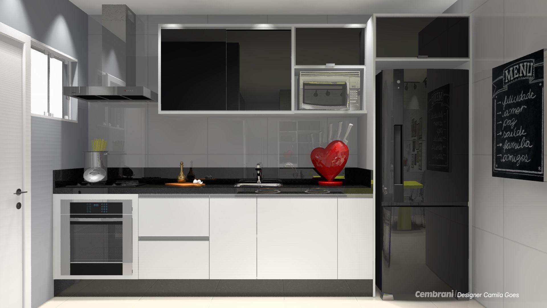 Decor Geladeira Preta Com Imagens Cozinha Branca Geladeira