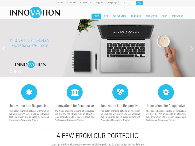 Download Free Innovation Lite Wordpress theme | Best Free