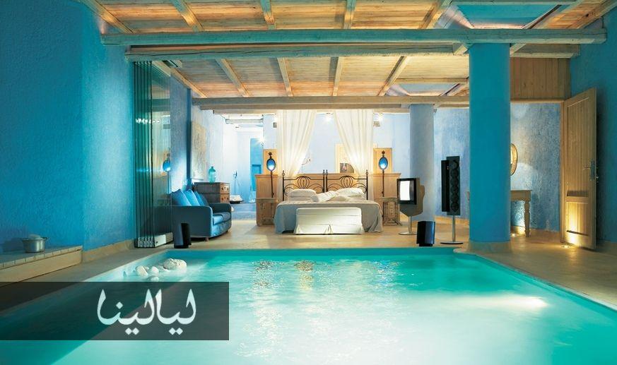 أفخم 10 غرف نوم في العالم موقع ليالينا Awesome Bedrooms Pool Bedroom Gorgeous Bedrooms