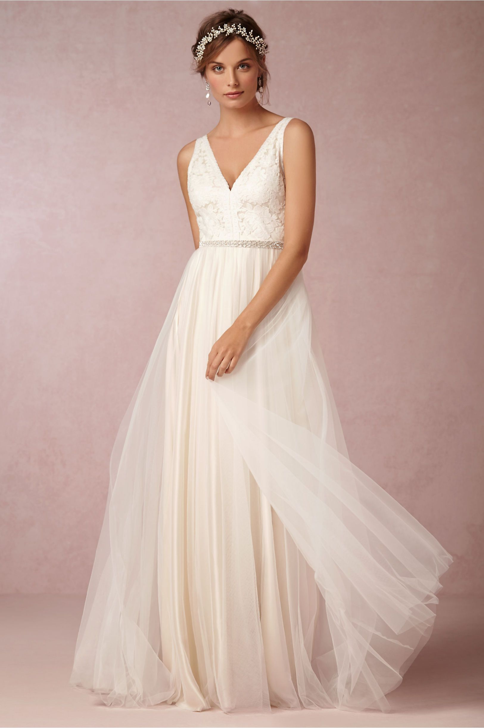 Bhldn Tamsin Gown By Catherine Deane Size 2 Wedding Dress Oncewed