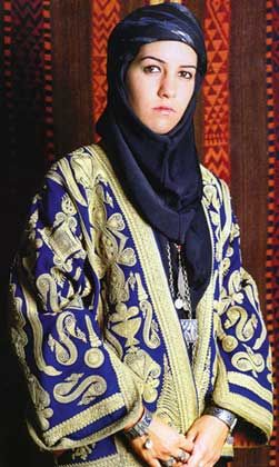 Traditional Jordanian costume. Clothing style: early 20th century.