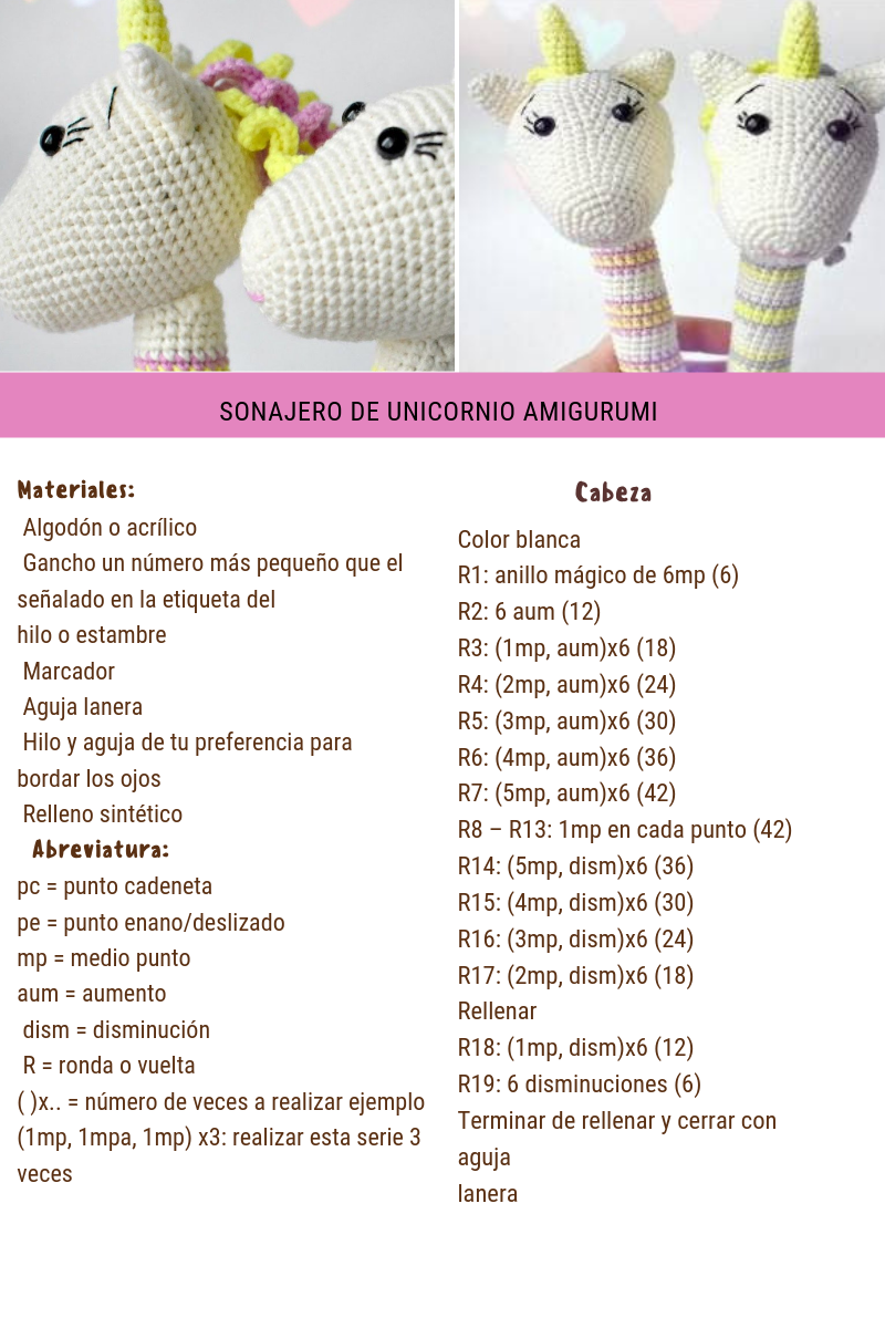 Unicornio Amigurumi: 10 Patrones Gratis | Amigurumi patrones ... | 1200x800