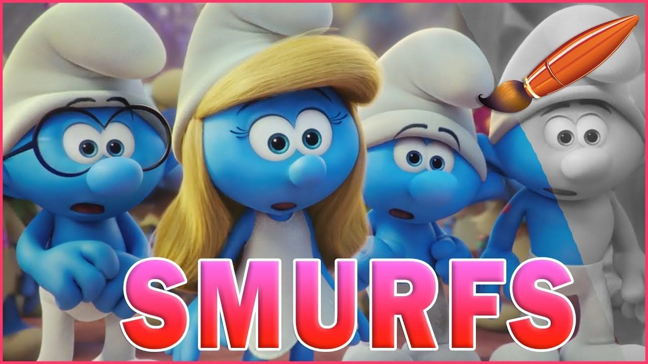 Coloring Pages Xbox 360 : Smurfette clumsy hefty brainy looking shocked kids coloring book