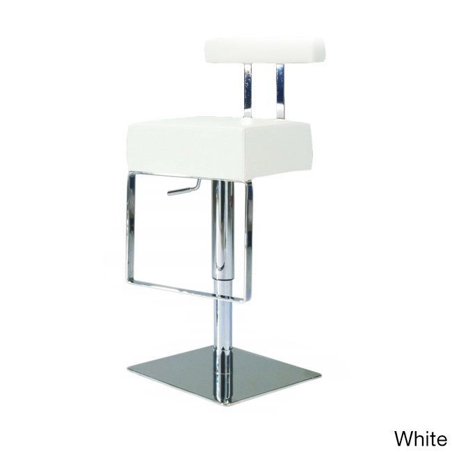Remarkable Somette Vinyl Upholstered Brushed Stainless Steel Adjustable Machost Co Dining Chair Design Ideas Machostcouk