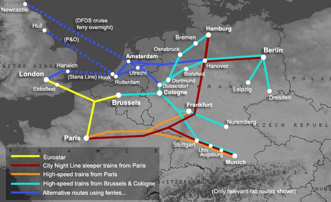 How to travel by train from London to Germany From 49 to Berlin