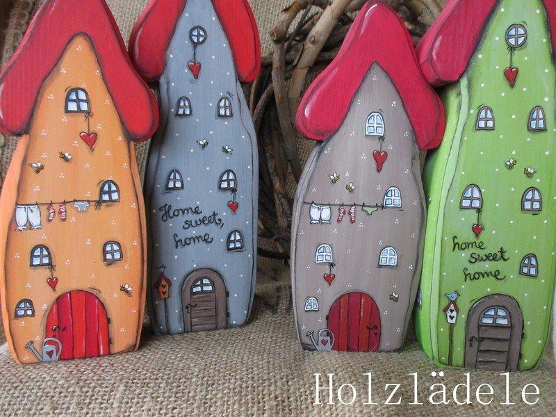 *EIN PAAR HÄUSCHEN* WUNSCHFARBE Von Holzlädele   Schönes Aus Holz Auf  DaWanda.com