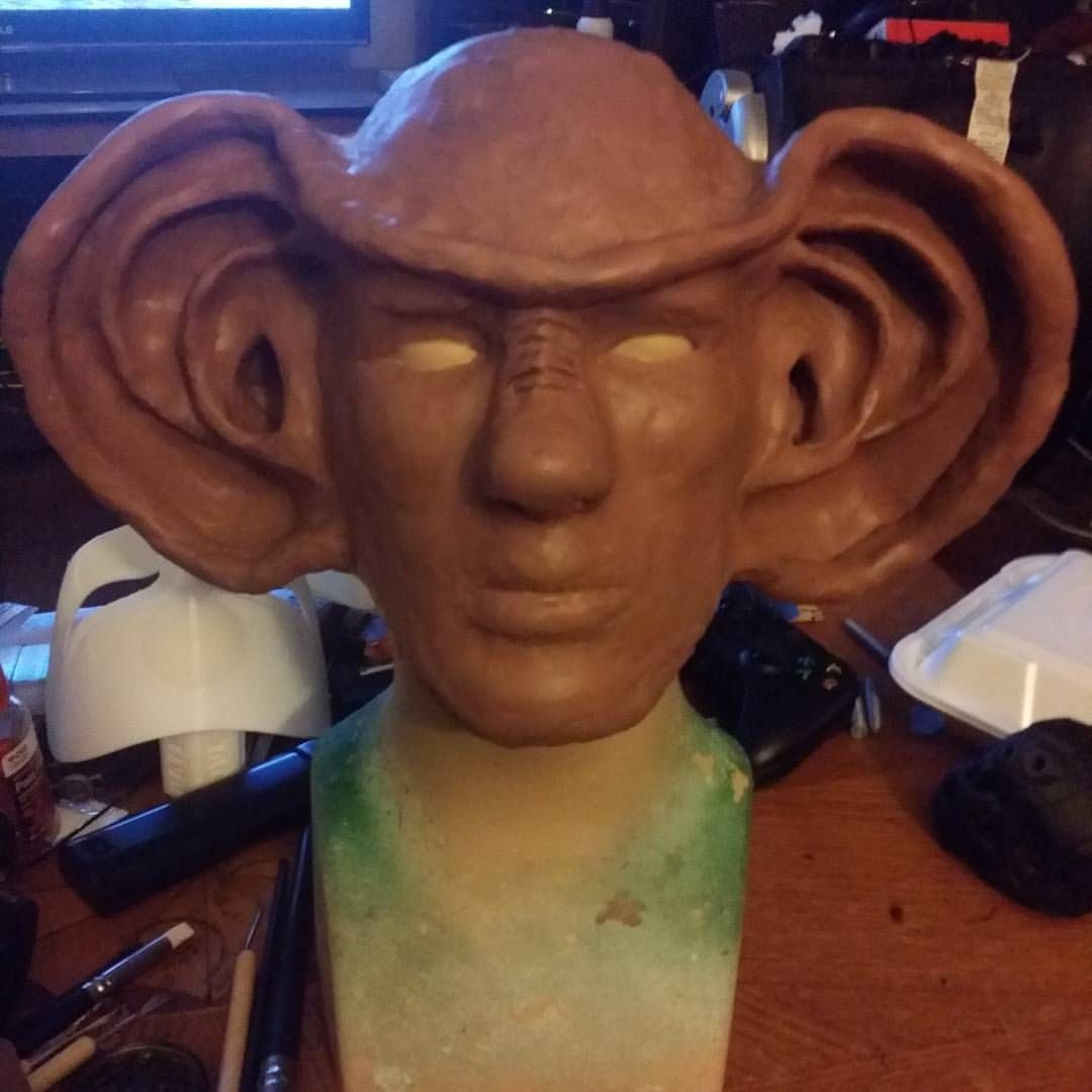 Working on a new sculpt. #somethinghinky #cosplay #startrek #startrekds9 #ferengi #sculpture #art