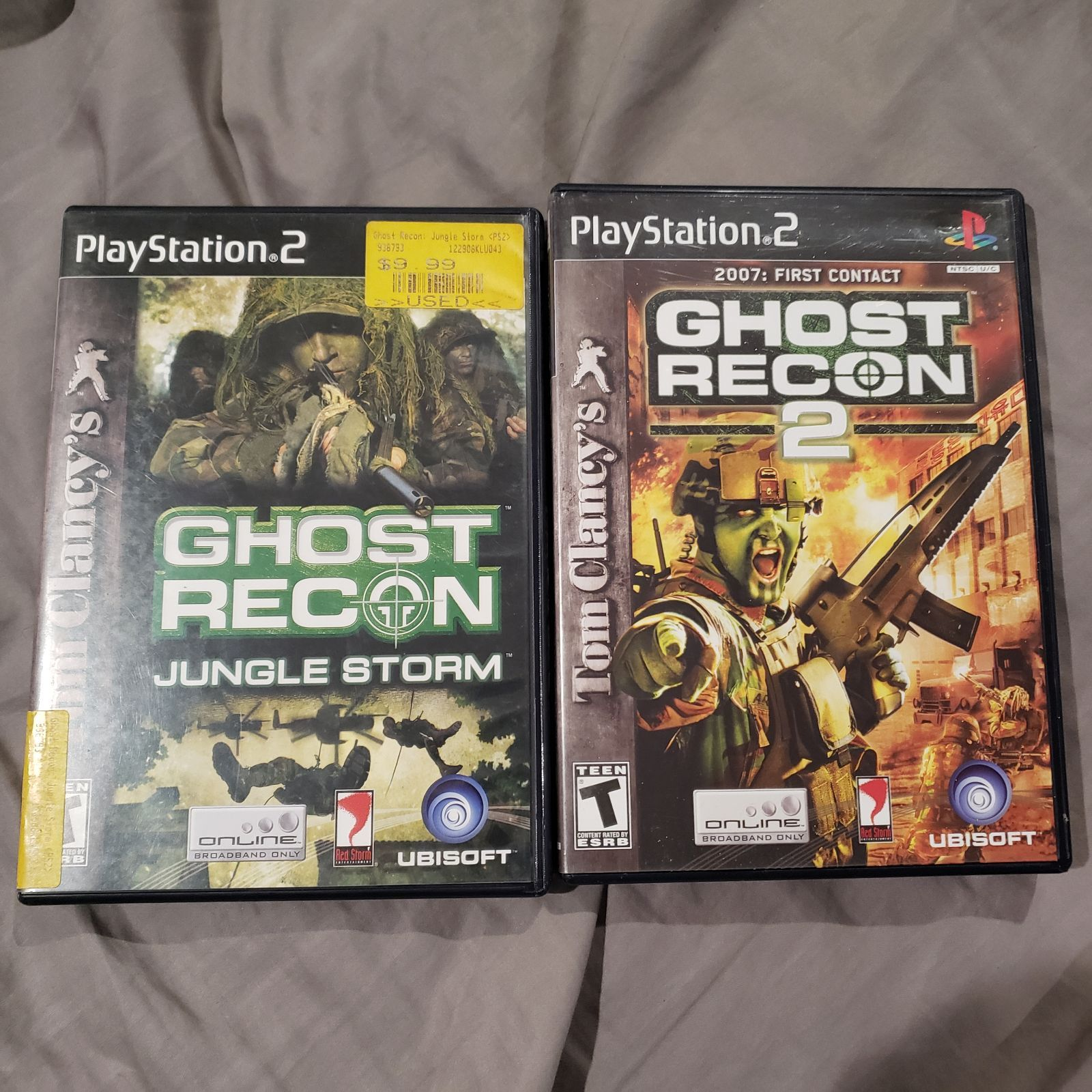 Ghost Recon Playstation 2 Game Bundle Includes Ghost Recon Jungle