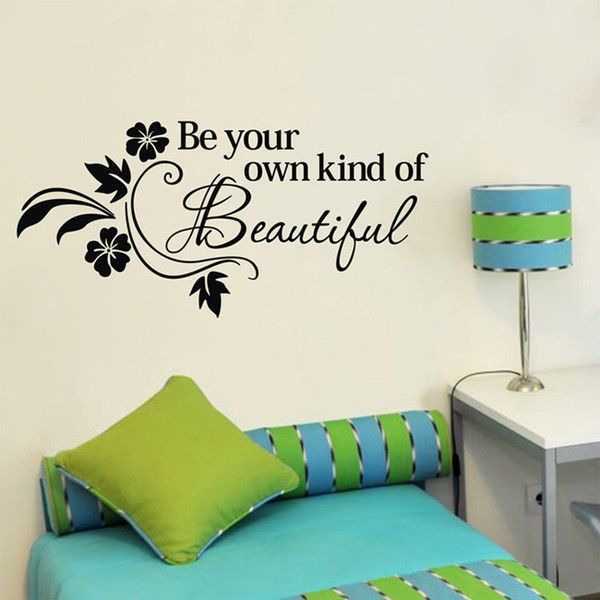 online shopping 38x80cm be own kind of beautiful wall art stickers