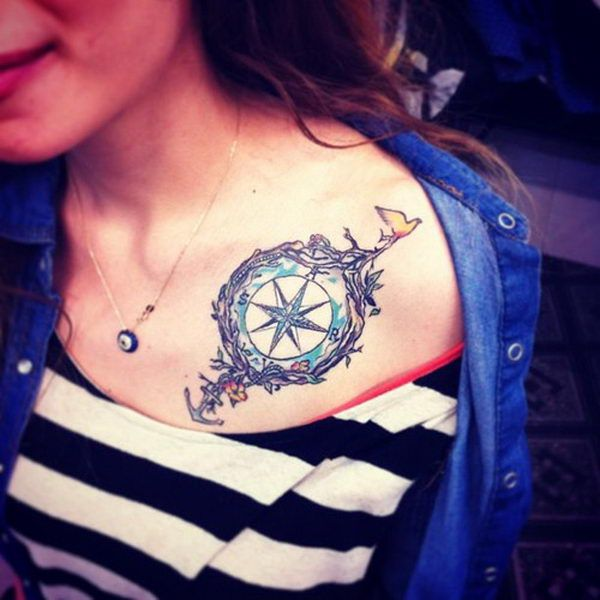 50 Cool Anchor Tattoo Designs And Meanings Collar Bone Tattoo