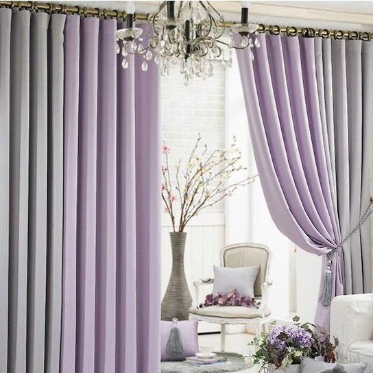 Living Room Curtains Purple