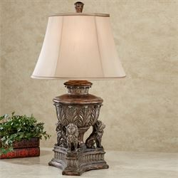 Kings Palace Lion Table Lamp Bronze Lamp Traditional