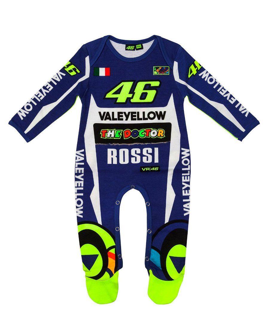 outlet store 25af1 789ef MotoGP Valentino Rossi Replica Baby Sleepsuit | kid fashion ...